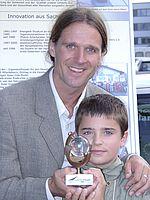 Timo Leukefeld mit Sohn Nick 2001